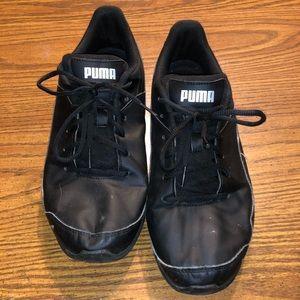 Black Puma Sneakers, Size 9.5
